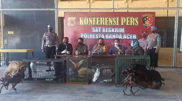 konferesi pers di Polratabes Aceh